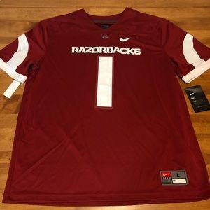 NEW Nike Arkansas Razorback Football Jersey